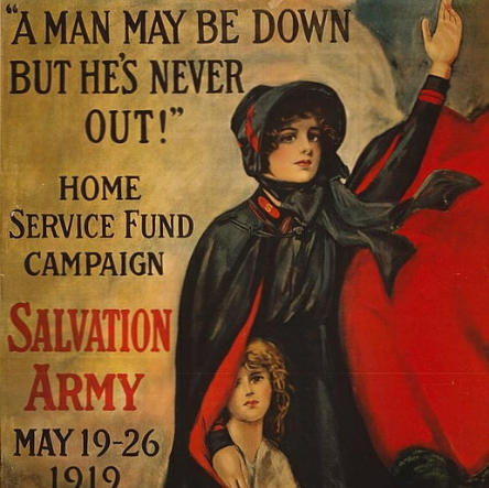 Bron: Library of Congress via digitaal ID cph.3g10026 Salvation Army World War I poster 02.jpg