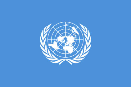Bron: United Nations (1962) The United Nations flag code and regulations, as amended November 11, 1952, New York OCLC: 7548838