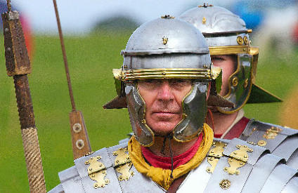 Foto: David Friel. Bron: Image taken at the display of Roman Army Tactics Scarborough Castle UK Aug-07