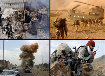 Bron: All four pictures in the montage are taken by the US Army/Navy. Derivative work: Poxnar.
